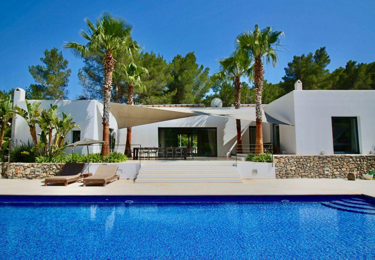 Vista del alojamiento turístico Can Moon en San José, Ibiza