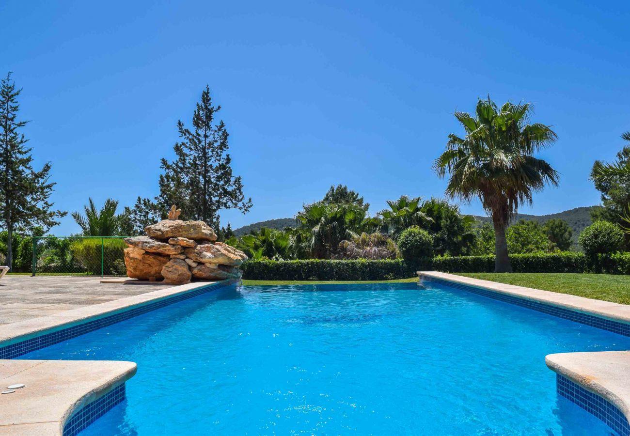Detalle de la piscina privada de Villa Coqueta de Ibiza