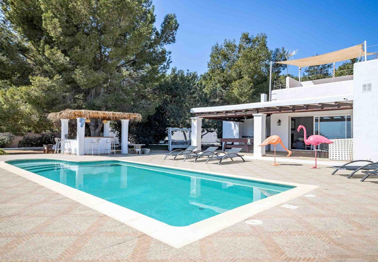 Piscina de villa Cana Esmeralda Ibiza